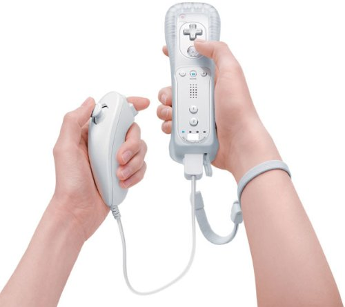 Wiimote construido en el Motion Plus Remote + Nunchuck Dentro Controller para Wii