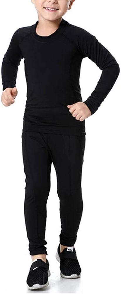 Youth Boys Compression Baseball Shirts & Pants Long Sleeve Athletic Shirts Football Pants Hockey Sports Leggings Set