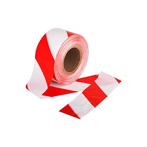 500m Absperrband rot Weiss beidseitig 75mm im Karton