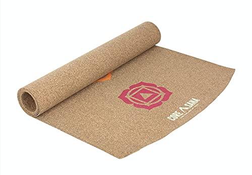 Core Asana Esterilla de yoga – Alfombra de yoga de caucho natural mezclada – Esterilla antideslizante de alta densidad para gimnasio entrenamiento y suelo Esterilla de ejercicio 7 chakras