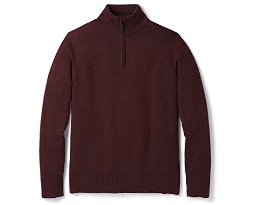 Smartwool Sparwood Half Zip Sweater - Men's Merino Wool Sweater Fig Heather - Past Season Small