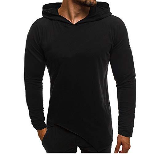 Homme Hoodie Sport Basic Couleur Unie Zip Sweatshirt Casual Style Sweat A Capuche Manches Longues Sweat-Shirts Capuchon Automne Blousons Pas Cher