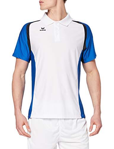 erima Herren Poloshirt Razor 2.0, Weiß/New Royal/Schwarz, M, 111616