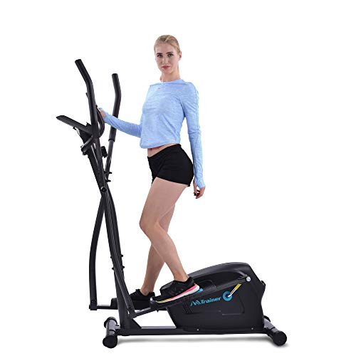 LITUOYUANHE Elliptical Trainer Machine Upright Exercise Bike with 8-Level Magnetic Resistance for Home Gym Cardio Workout