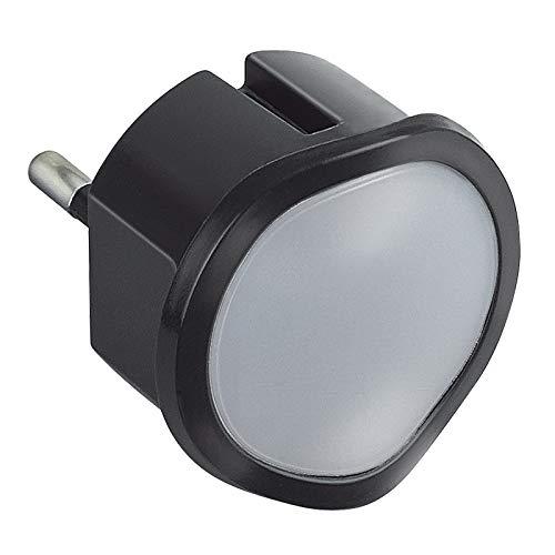 Legrand, dimmbares LED-Steckdosen-Nachtlicht mit integriertem Dämmerungssensor, schaltet Lampe bei Dunkelheit automatisch ein, 050677