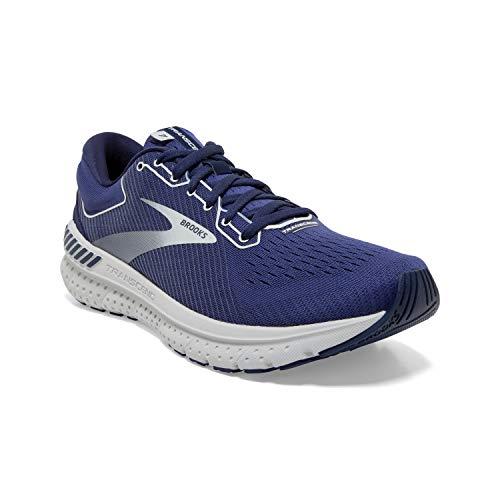 Brooks Mens Transcend 7 Running Shoe - Deep Cobalt/Grey/Navy - D - 10.5