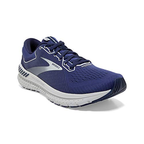 Brooks Mens Transcend 7 Running Shoe - Deep Cobalt/Grey/Navy - D - 12