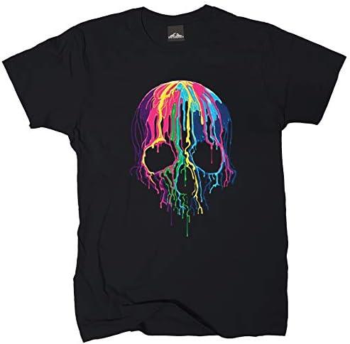 Wolkenbruch - Camiseta de manga corta, diseño de calavera derretida