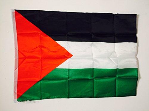 AZ FLAG Flagge PALÄSTINA 90x60cm - PALÄSTINENSISCHE Fahne 60 x 90 cm Scheide für Mast - freiner Polyester flaggen