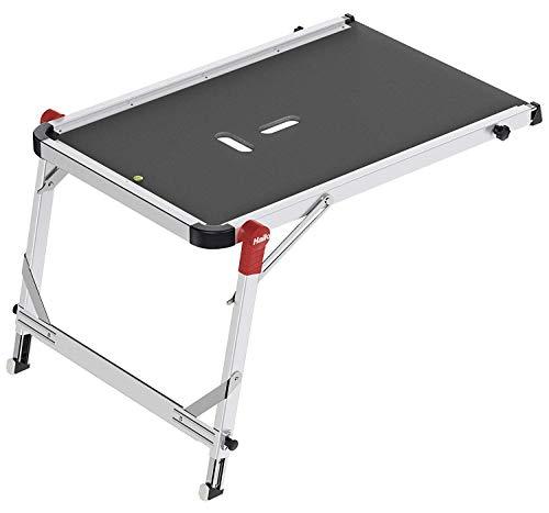Hailo TP1, Treppenpodest, sicherer Stand, flexibel anpassbar, einfacher Transport, Füße mit Soft-Grip-Sohle, belastbar bis 150 kg, 9940-001