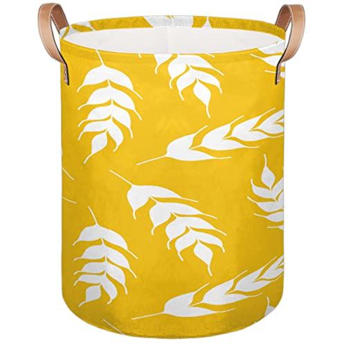 Cesta para la colada de centeno con flores y maíz; cesta de almacenamiento de gran capacidad, impermeable, para viajes, universidad, dormitorios, hogar