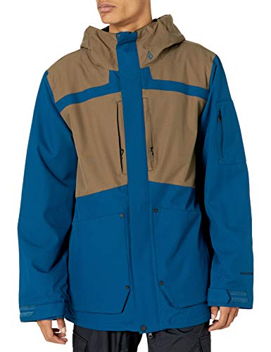 Volcom Scortch Insulated Jacket Chaqueta aislada, azul, S para Hombre
