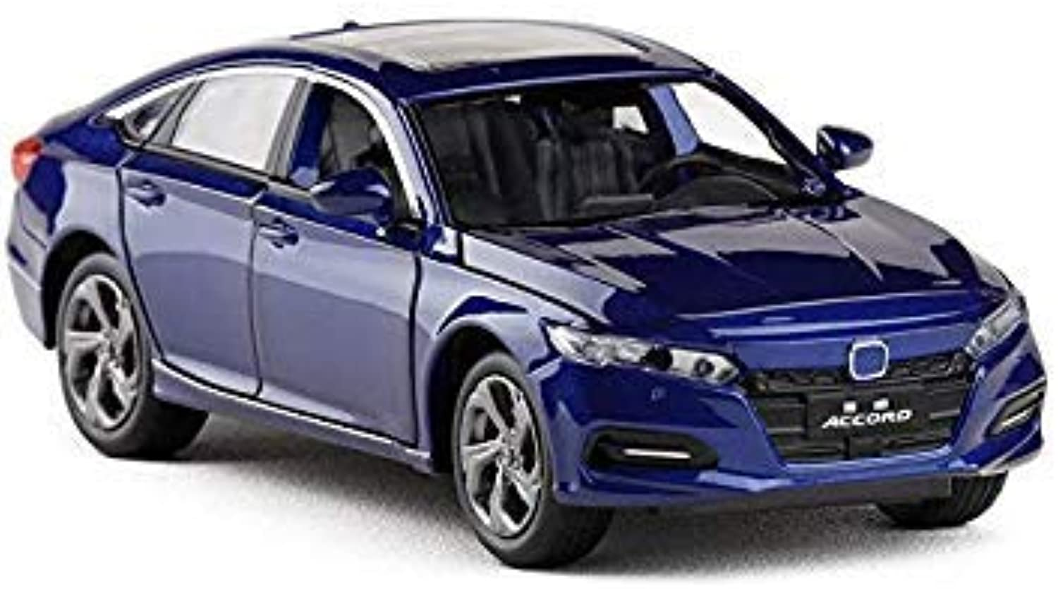 1 32 Scale Honda Accord Car Model Toy Sound Light Diecast Metal Pull Back Car Model Toy for Gift Collection bluee