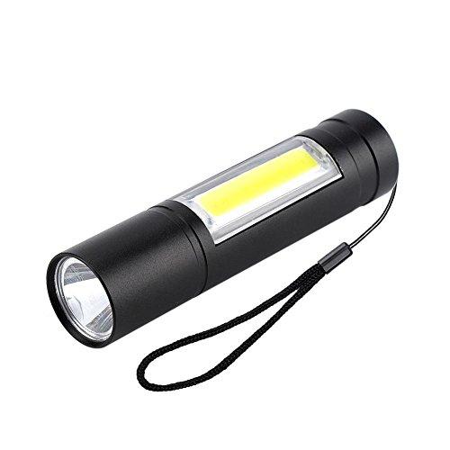 LED Zaklamp, Mini Waterdichte Draagbare LED XPE+ COB Zijlicht Pocket USB Oplaadbare 3 Modes Pen Clip Licht Zaklamp Lamp met Hangende Touw