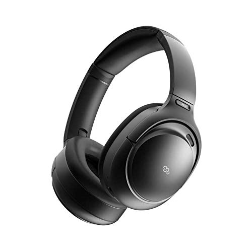 Mu6 Space 2 kabellos Bluetooth-Kopfhörer, Over Ear Headset mit ANC Hybrid Treibern, 40dB Geräuschunterdrückung, 3D Touch und Sprachsteuerung, Mikrofon CVC8.0, Faltbar Ohrumschließend, Schwarz