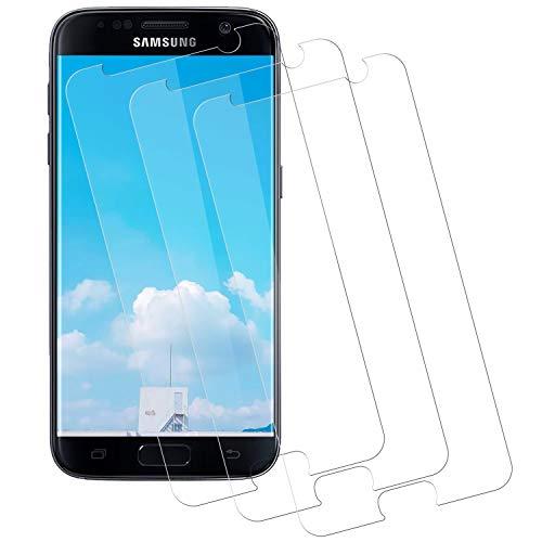 NASFUEY Panzerglas Schutzfolie für Samsung Galaxy S7 [3 Stück], [9H Härte Ultra Clear] [Anti-Kratzen] [Blasenfrei] [Anti-Kratzer] Panzerglasfolie Displayschutzfolie für Samsung Galaxy S7