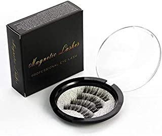 Magnetic Eyelashes with Magnets Handmade 3D/6D Magnet Lashes Natural False Eyelashes Comfortable with Gift Box KS-01