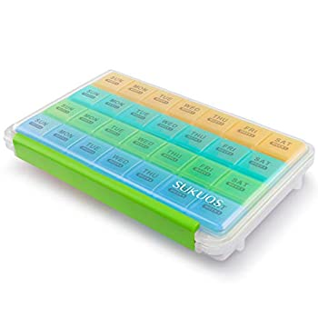 Monthly Pill Organizer 4 Week Month Pill Cases Large Medicine Organizer Moisture-Proof Box for Pills/Vitamin/Fish Oil/Supplements