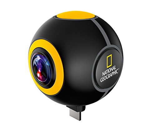 National Geographic Android Streaming Action Camera Spy met 720° beeld en video in HD resolutie en live-overdracht