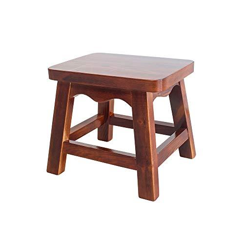 KOIUJ Massivholz Kleine Hocker for Kinder Fuß Hocker Wasserdicht, Haus aus Holz Kindersitz Rechteck Pine-Material