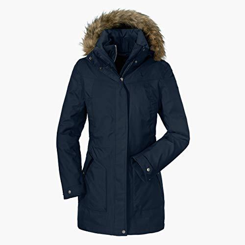 Schöffel Damen 3in1 Jacket Genova2 wasserdichte Winterjacke mit herausnehmbarer Inzip Innenjacke, atmungsaktive Regenjacke mit 2-Wege-Stretch, Blau (Sky Captain), 46