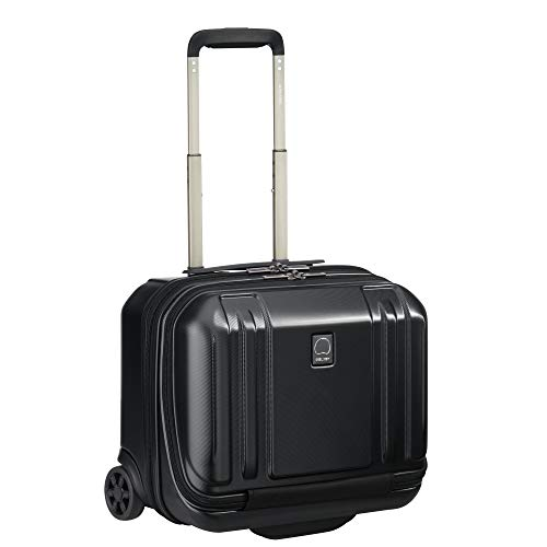 DELSEY Paris Oxygene Hardside Luggage Under-Seater with 2 Wheels, Black, 15 x 13.5 x 9.25-Inch