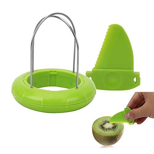Zufällige Farbauswahl, 1 Stück Obst-Kiwi-Schneider, Küchenschäler, Küchenwerkzeuge