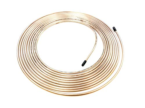 25 Ft. Roll/Coil of 3/16' (.028' Wall) Copper Nickel Brake Line Tubing