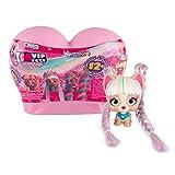 VIP Pets Mini Fans - Mini perritas muñecas coleccionables sorpresas con Pelo Largo para peinar y Accesorios, Capsula corazón arcoíris - Modelo Sorpresa