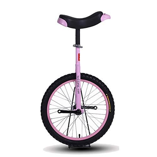 LXX Einrad Kinder 14/16/18/20 Zoll Mountainbike Radrahmen Einrad Fahrrad Fahren mit Bequemem Release-Sattelsitz fur Kinder/Erwachsene/Jugendliche, Rosa (Color : Pink, Size : 18 Inch Wheel)