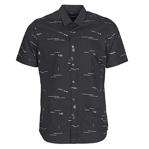 Desigual Emory Hemden Herren Marine - XXL - Kurzärmelige Hemden