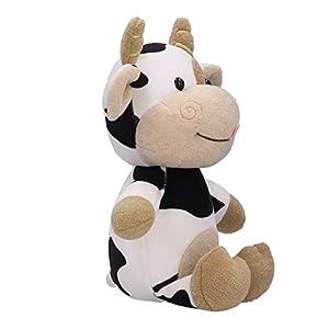 Parluna Juguete de Peluche de Vaca, Juguete de muñeca de Vaca, ecológico para niños Regalo de cumpleaños Niños y niñas(30cm)