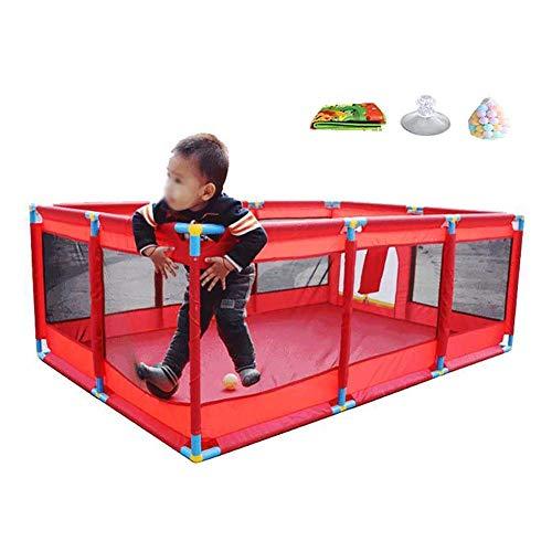LXDDP Parc Pliable pour Parc bébé Portable avec balles Matelas pour bébé très Grand pour Le Parc jardinerie Nursury Centre Parc pour bébé sur Pied (Taille: sans boîte Panier)