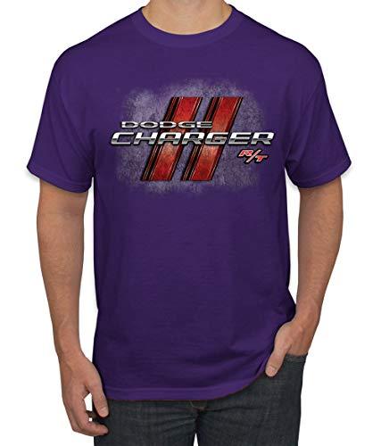 Dodge Charger R/T Classic Retro Racing Logo Emblem   Mens Cars and Trucks Graphic T-Shirt, Purple, X-Large