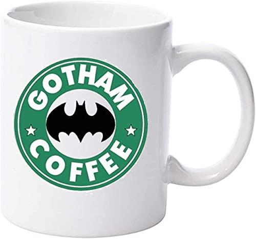 Batman Gotham Parodia regalo para vacaciones como Navidad, Halloween, Acción de Gracias, tazas, diseño de calidad divertido