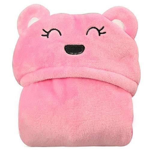 Gbcyp flanellen mantel handdoek baby mantel zachte schattige baby's mantel badjas met capuchon, 96x76 cm, zwarte panda