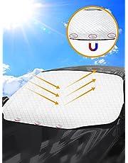 Tevlaphee Parasole Auto Parabrezza, Accessori per Auto, Parasole per Auto, Coprisole Auto Parabrezza, Protettore Contro i Raggi UV, Pieghevole, Magnetic, Adatto la Maggior Parte dei Veicoli 193x126cm
