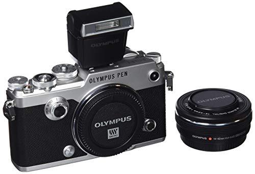 Olympus Pen-F Kit, Cámara de Sistema Micro Cuatro Tercios (20 MP, Estabilizador de Imagen de 5 Ejes, Visor Electrónico) + Objetivo M.Zuiko de 14-42mm, Plata/Negro