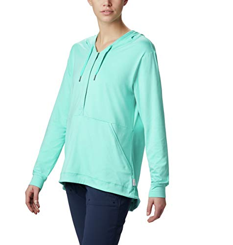 Columbia Women's Reel Relaxed Hoodie, Dolphin Heather, X-Large