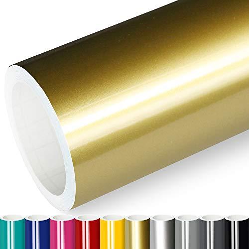 Actinium® Klebefolie 6€/m² Gold Glanz   5m x 0,63m selbstklebende Folie glänzend   Möbelfolie selbstklebend Küchenfolie Plotterfolie