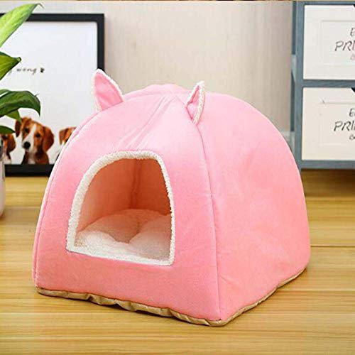ZXL milieuvriendelijke kattenbed-slaapzak verwijderbare matras-warme zachte opvouwbare huisdier-huis-tent, kattennest-werp-pup-hondenhoed