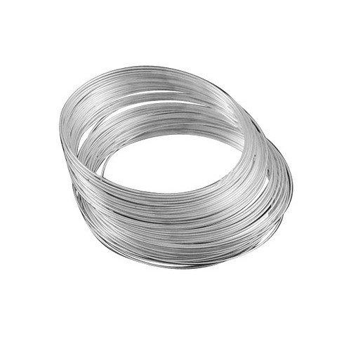 Charming Beads 20 x Argento Acciaio Inossidabile 1.0mm x 11.5cm Filo Armonico per Collana - (HA12375)