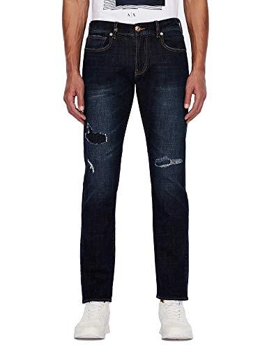 Armani Exchange Mens Indigo Denim Jeans, 29