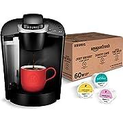 Keurig K-Classic Coffee Maker, Single Serve K-Cup Pod Coffee Brewer, 6 To 10 Oz. Brew Sizes, Black