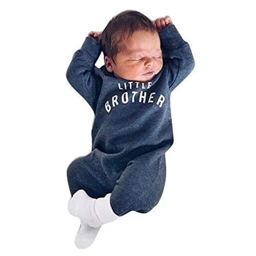 jieGorge Mameluco y Mono para niños, recién Nacido, bebé, niño, niña, botón, Letra, Mameluco, Mono, Mono, Ropa, Ropa para niños y niñas (Azul 100)