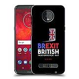 Head Case Designs Porte de Sortie Brexit Coque Dure pour l'arrière Compatible avec Motorola Moto Z3...