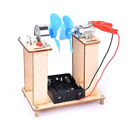 Goolsky DIY Niños Ciencia Tecnología Experimentos Aula Pequeños inventos Ensamblados Modelos Juguetes Herramienta de Aprendizaje Educativo Kit-generación de energía eólica