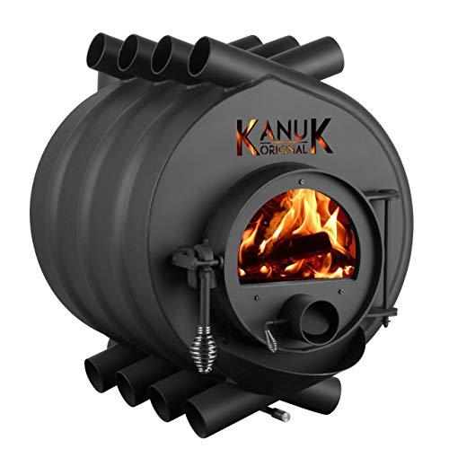 Warmluftofen Kanuk® Original 10 kW - Werkstattofen - Schwedenofen - Energieeffizientklasse A+ - Top Qualität - Zulassung für Deutschland, Östereich und Schweiz - BimSchV