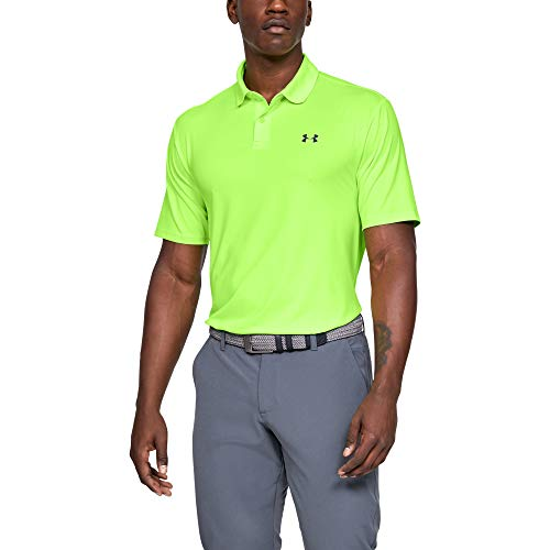 Under Armour Heren Performance 2.0 T, Korte mouw Poloshirt met Zonnebescherming, Groen, X-Large
