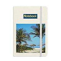 海のヤシの木の青い空の写真 ノートブッククラシックジャーナル日記A 5